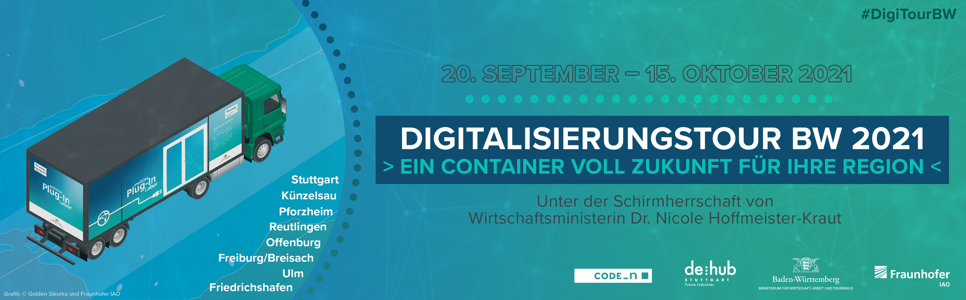 Flyer der Digitalisierungstour Baden-Württemberg 2021
