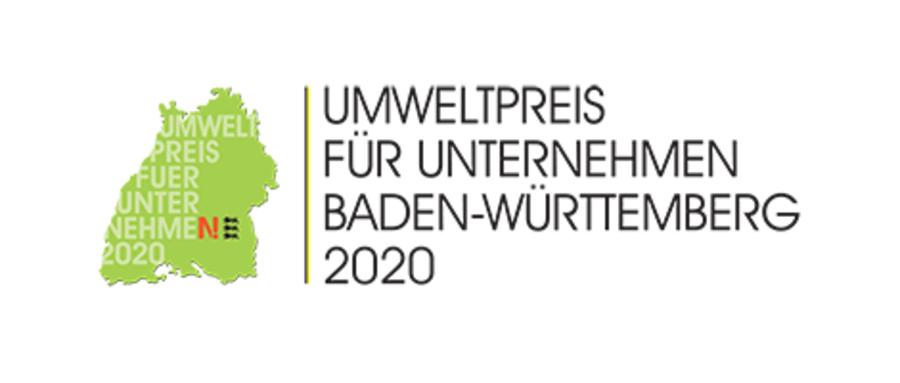 Logo des Umweltpreises für Unternehmen in Baden-Württemberg 2020