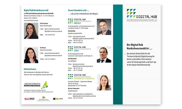 Informationsflyer zum Projekt Digital Hub Nordschwarzwald