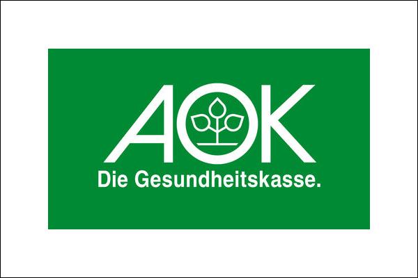 Logo der AOK Krankenkasse