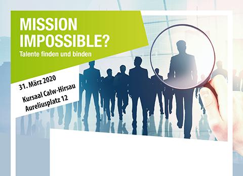 """Ausschnitt vom Flyer zur Veranstaltung """"Mission Impossible? Talente finden und binden"""" der Fachkräfte-Allianz Nordschwarzwald"""