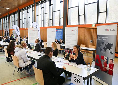Bild vom Azubi-Speed-Dating 2020 in Nagold der Fachkräfte-Allianz Nordschwarzwald