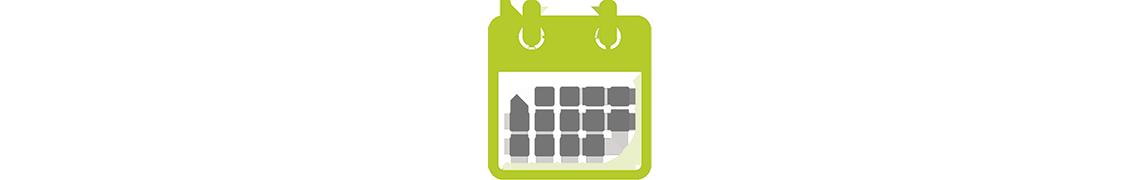 Icon: Grafik eines Kalenders
