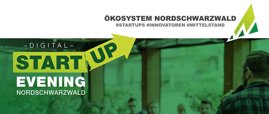 Auszug des Flyers des Start-up Evening Nordschwarzwald, dass vom Start-up Ökosystem Nordschwarzwald organisiert wurde