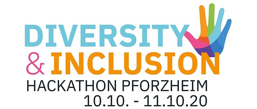 Logo der Veranstaltung Hackathon Pforzheim mit dem Motto Diversity & Inclusion, dass vom 10.10 bis 11.10.2020 stattfand