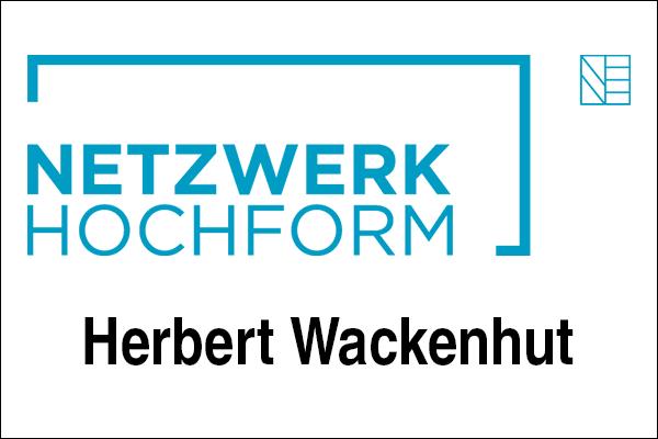 Logo Netzwerk Hochform mit Herbert Wackenhut als Innovationsintermediär