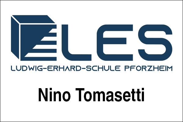 Logo Ludwig-Erhard-Schule Pforzheim, Innovationsintermediär Nino Tomasetti