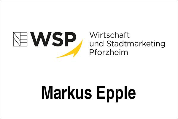 Logo Wirtschaft und Stadtmarketing Pforzheim (WSP), Innovationsintermediär Markus Epple
