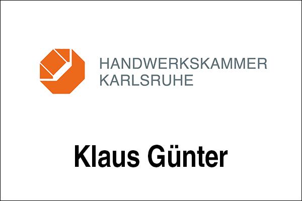 Logo Handwerkskammer Karlsruhe, Innovationsintermediär Klaus Günter
