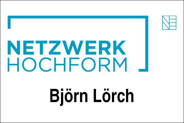 Logo Netzwerk Hochform, Innovationsintermediär Björn Lörch