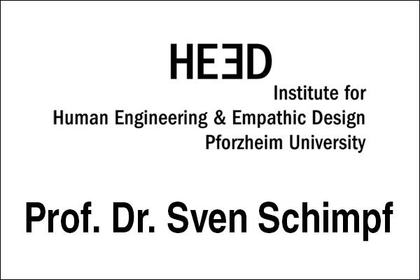 Logo Institute for Human Engineering & Empathic Design Pforzheim University (HEED), Innovationsintermediär Prof. Dr. Sven Schimpf