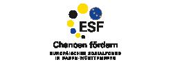 Logo ESF Chancen fördern: Europäische Sozialfonds in Baden-Württemberg