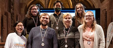 Gruppenbild der Gewinner des Hackathon, organisiert vom Digital Hub Nordschwarzwald
