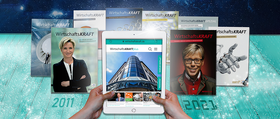 Titelbilder von Wirtschaftskraft-Magazinen der letzten 10 Jahre
