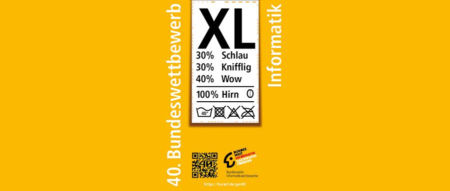 Flyer zum 40. Bundeswettbewerb Informatik