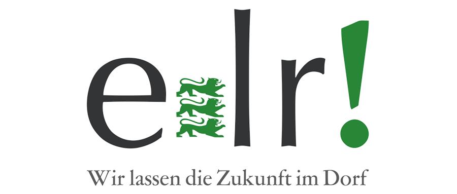 """Logo Entwicklungsprogramm Ländlicher Raum (ELR) mit dem Text """"Wir lassen die Zukunft im Dorf"""""""